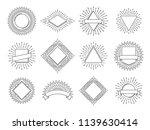 sunburst labels. retro sun rays ... | Shutterstock .eps vector #1139630414