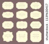 vintage label frames. old... | Shutterstock .eps vector #1139630417
