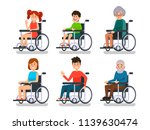 persons in wheelchair. hospital ... | Shutterstock .eps vector #1139630474