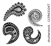 paisley ornament vector | Shutterstock .eps vector #1139631047