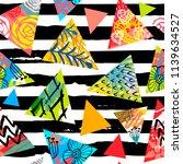 african batik tropical seamless ... | Shutterstock .eps vector #1139634527