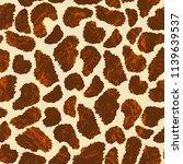 giraff seamless pattern. ... | Shutterstock . vector #1139639537