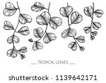 collection set of tropical leaf ... | Shutterstock .eps vector #1139642171