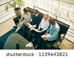 high angle of a diverse group... | Shutterstock . vector #1139643821