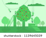 people are harvesting. abstract ... | Shutterstock .eps vector #1139645039