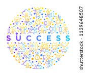 success concept in circle thin... | Shutterstock .eps vector #1139648507