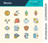 bitcoin icons. filled outline... | Shutterstock .eps vector #1139650634