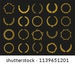 golden vector laurel wreaths on ... | Shutterstock .eps vector #1139651201