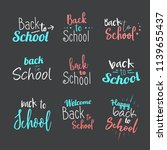 back to school poster banner...   Shutterstock .eps vector #1139655437