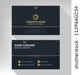 business model name card luxury ... | Shutterstock .eps vector #1139660234