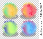 set of balls with fur effect.... | Shutterstock .eps vector #1139660327