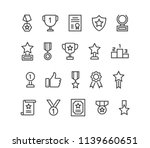 simple set of trophy awards... | Shutterstock .eps vector #1139660651