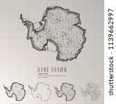 hand drawn antarctica map | Shutterstock .eps vector #1139662997
