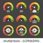 credit score indicators with... | Shutterstock .eps vector #1139663441