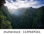green canyon covered by trees... | Shutterstock . vector #1139669261