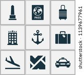 journey icons set with roads ... | Shutterstock .eps vector #1139677961