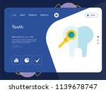 quality one page tooth website... | Shutterstock .eps vector #1139678747
