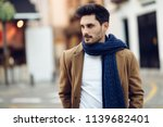 young man wearing winter... | Shutterstock . vector #1139682401