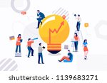 flat design concept group of... | Shutterstock .eps vector #1139683271