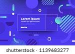 geometric background bright... | Shutterstock .eps vector #1139683277