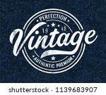 vintage t shirt graphic   Shutterstock .eps vector #1139683907