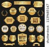 retro vintage golden badges and ... | Shutterstock .eps vector #1139685167