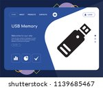 quality one page usb memory... | Shutterstock .eps vector #1139685467