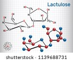 lactulose molecule. it is used... | Shutterstock .eps vector #1139688731