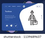 quality one page toolbox... | Shutterstock .eps vector #1139689637