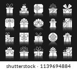 gift boxes silhouette icons set.... | Shutterstock .eps vector #1139694884