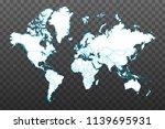 map of world. vector... | Shutterstock .eps vector #1139695931