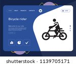 quality one page bicycle rider... | Shutterstock .eps vector #1139705171
