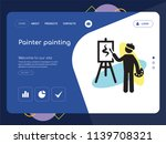 quality one page painter...   Shutterstock .eps vector #1139708321