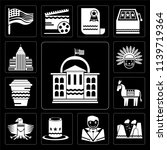 set of 13 simple editable icons ... | Shutterstock .eps vector #1139719364