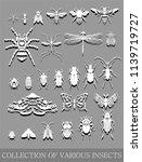 vector set of various small... | Shutterstock .eps vector #1139719727