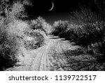 infrared monochrome desert moon ... | Shutterstock . vector #1139722517