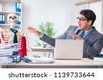 businessman working with... | Shutterstock . vector #1139733644