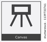 canvas icon isolated on white... | Shutterstock .eps vector #1139733761