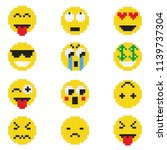 emoticon with various emotions  ... | Shutterstock .eps vector #1139737304