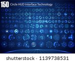 set of circle abstract digital... | Shutterstock .eps vector #1139738531