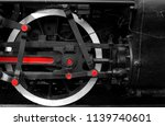 close up of old steam train... | Shutterstock . vector #1139740601