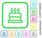 birthday cake vivid colored... | Shutterstock .eps vector #1139743034