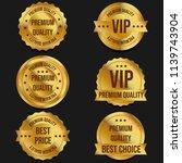 premium quality golden banners   Shutterstock . vector #1139743904