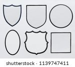 logo patch on white fabric... | Shutterstock . vector #1139747411