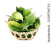 balsam apple  bitter cucumber ... | Shutterstock . vector #1139756711