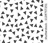 triangles. black and white... | Shutterstock .eps vector #1139757251