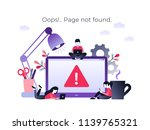 flat concept 404 error page or... | Shutterstock .eps vector #1139765321