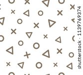 geometric seamless pattern with ... | Shutterstock .eps vector #1139769374
