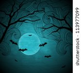 halloween vector background... | Shutterstock .eps vector #113977099