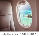 Airplane Interior With Window...